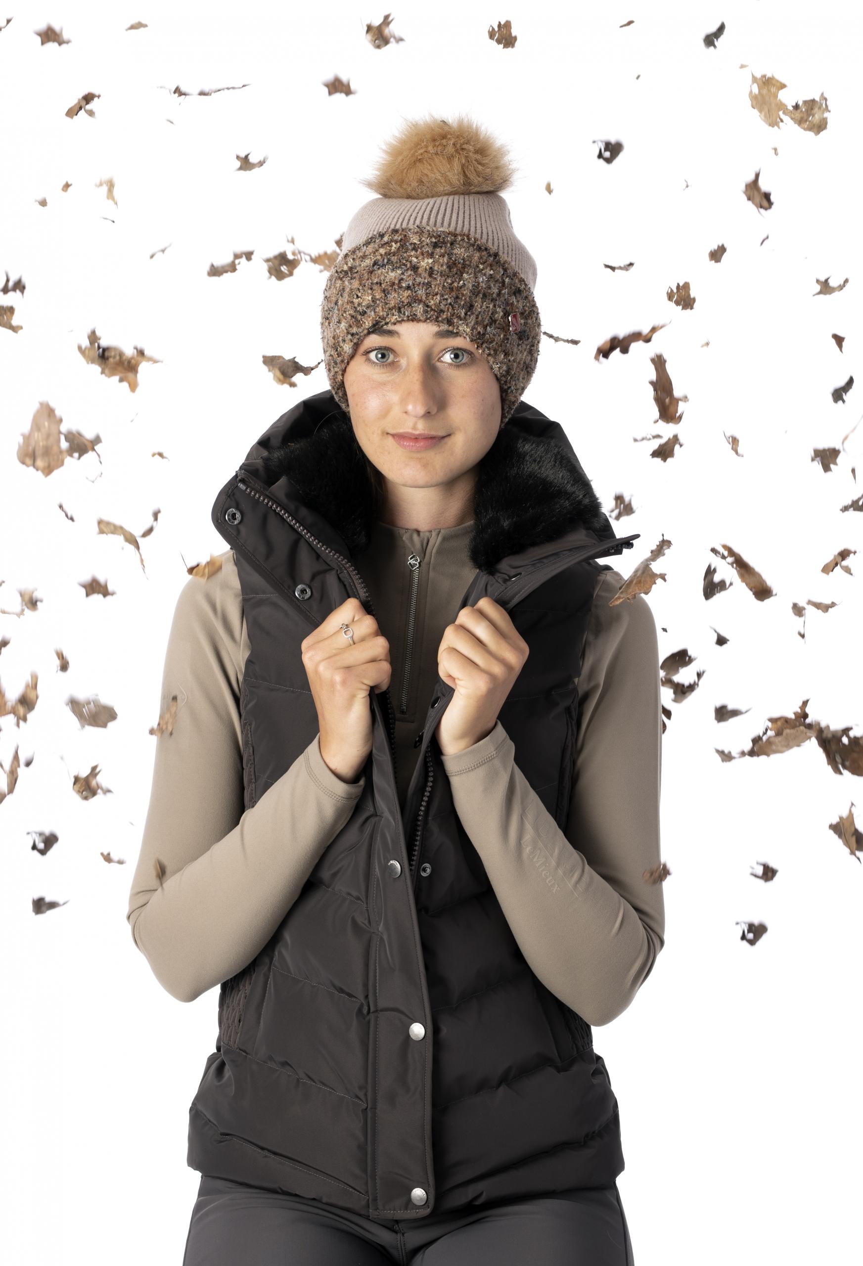 wintercollectie lemieux loire bodywarmer mocha