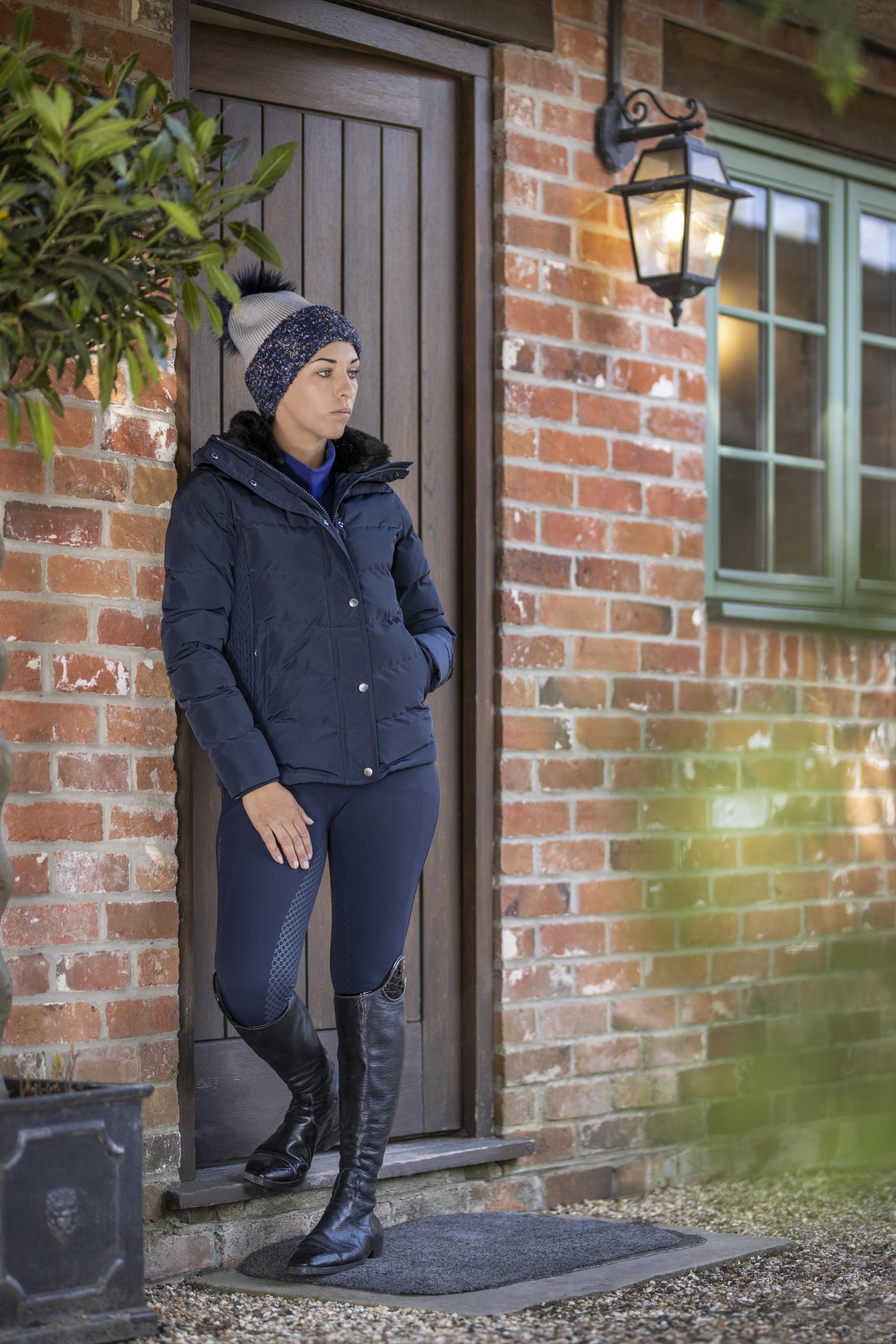wintercollectie lemieux short coat navy