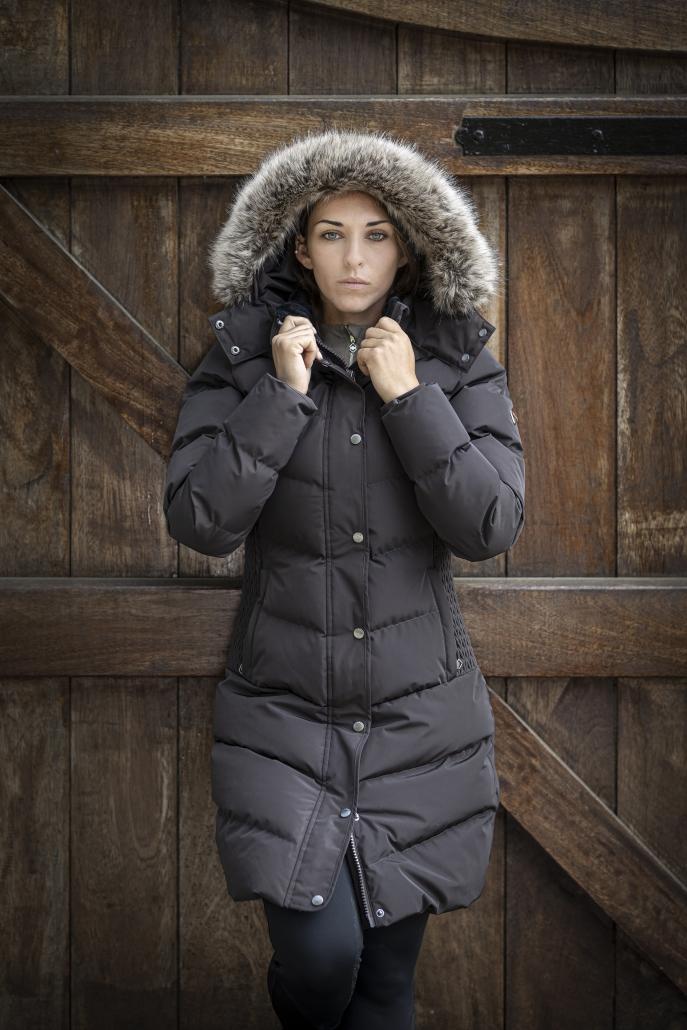 wintercollectie lemieux three quarter coat mocha