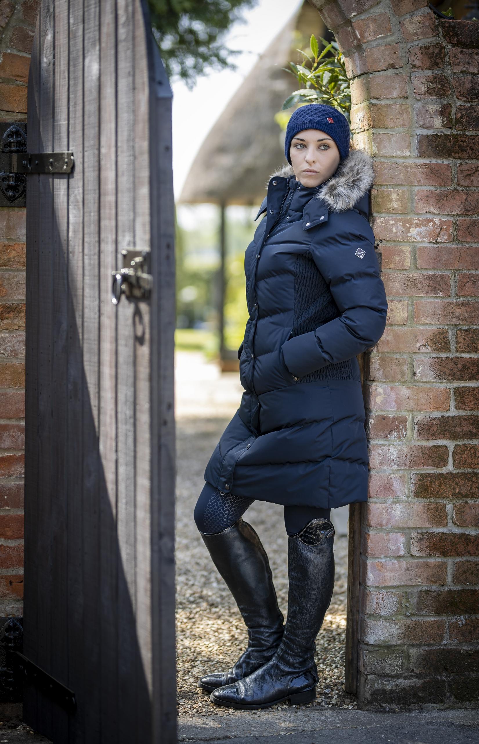 wintercollectie lemieux three quarter coat navy